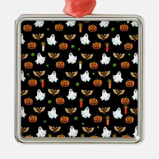 Halloween pattern metal ornament