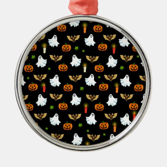 Halloween pattern metal ornament