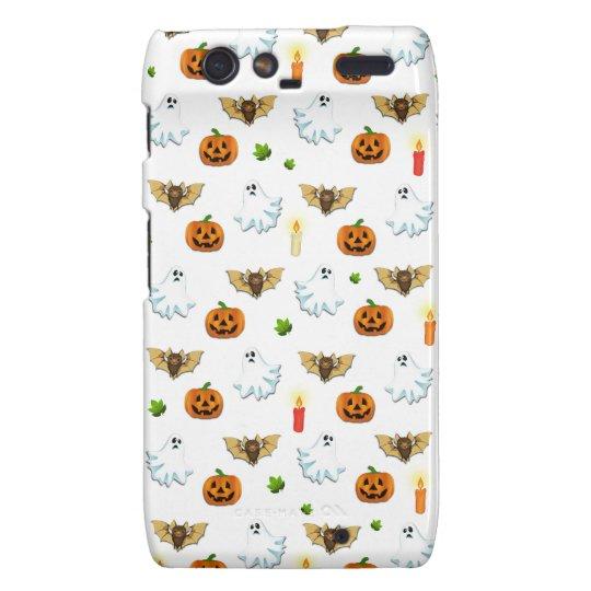 Halloween pattern motorola droid RAZR cases