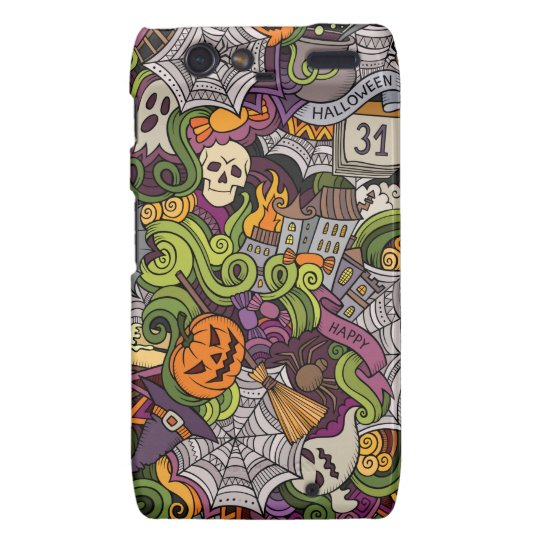 Halloween pattern motorola droid RAZR cover