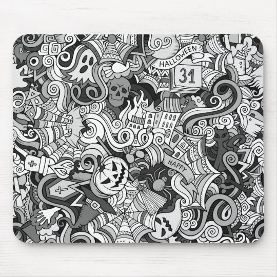 Halloween pattern mouse pad