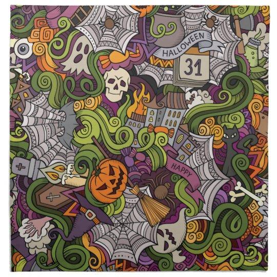Halloween pattern napkin