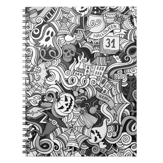 Halloween pattern notebook