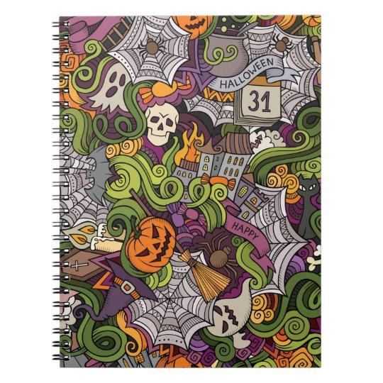 Halloween pattern notebook