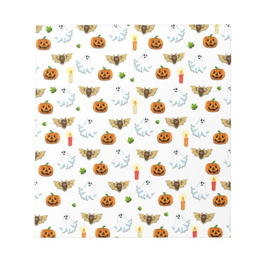 Halloween pattern notepad