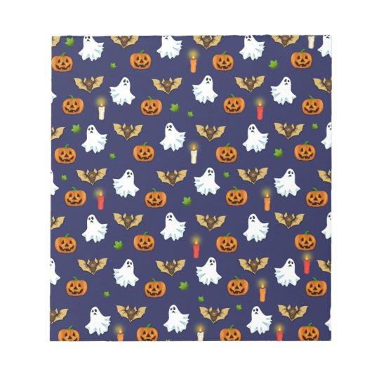 Halloween pattern notepad