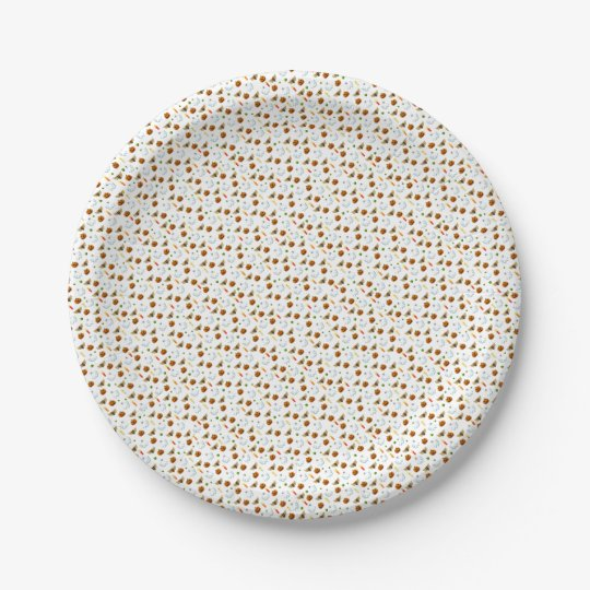 Halloween pattern paper plate