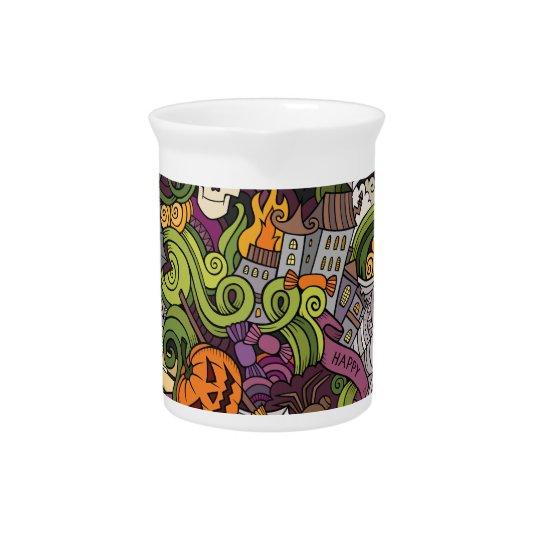 Halloween pattern pitcher