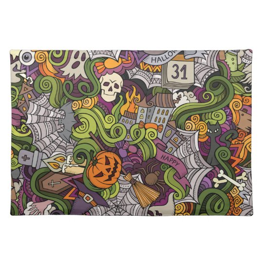 Halloween pattern placemat