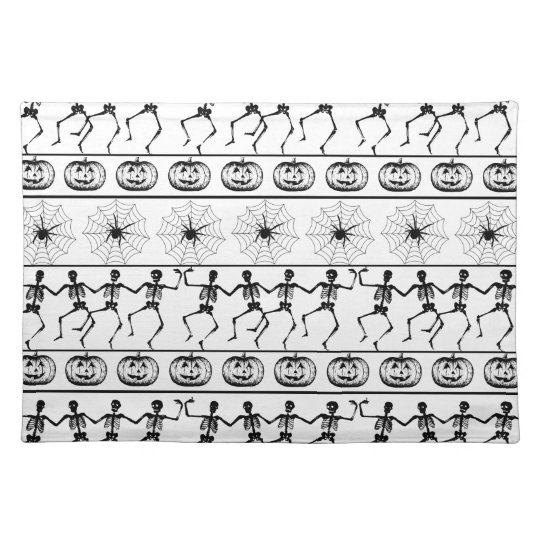 Halloween pattern placemat