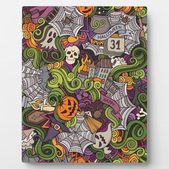 Halloween pattern plaque