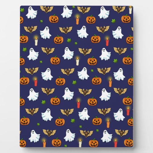 Halloween pattern plaque