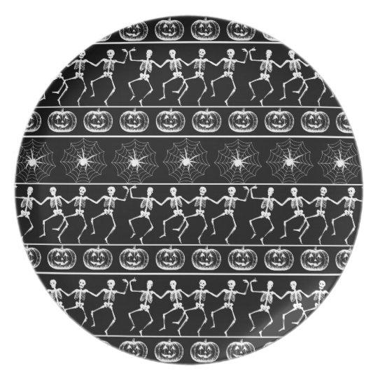 Halloween pattern plate