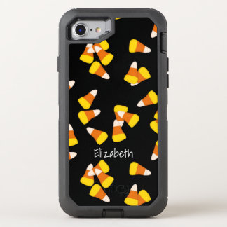 Halloween pattern random candy corn pieces OtterBox defender iPhone 8/7 case