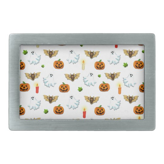 Halloween pattern rectangular belt buckle