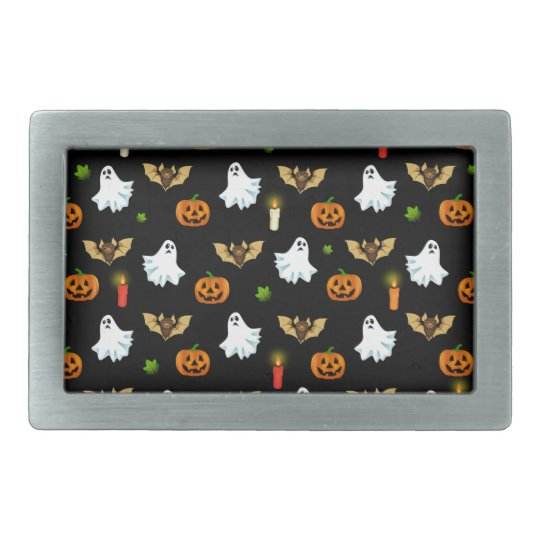 Halloween pattern rectangular belt buckle