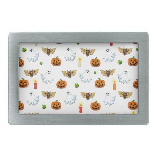 Halloween pattern rectangular belt buckles