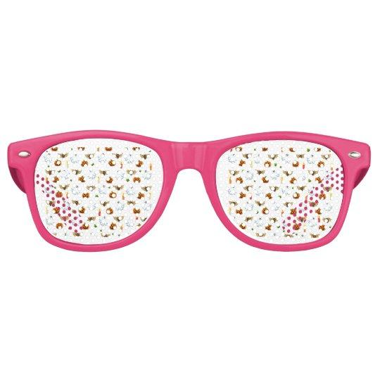 Halloween pattern retro sunglasses