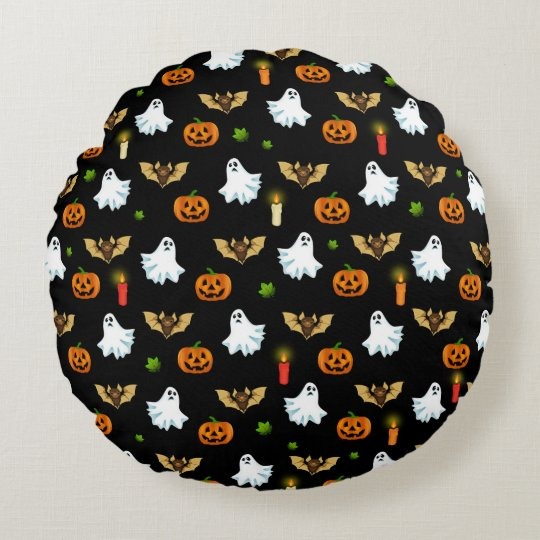 Halloween pattern round cushion
