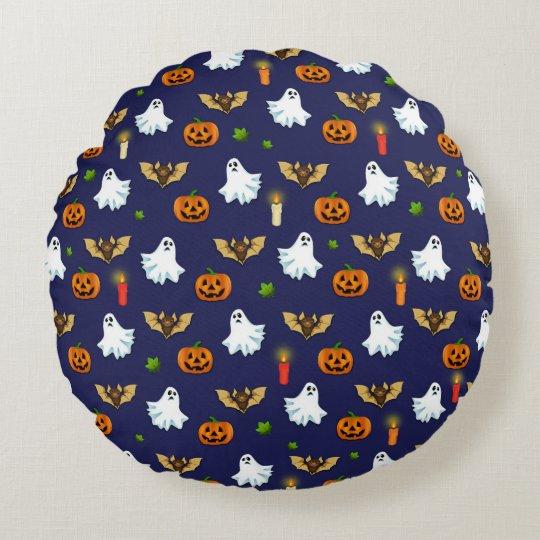 Halloween pattern round cushion