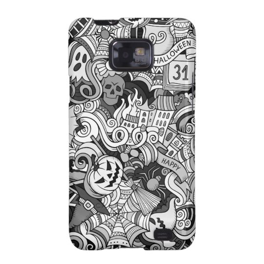 Halloween pattern samsung galaxy s2 cover