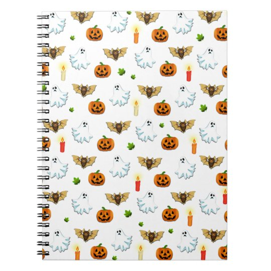 Halloween pattern spiral notebook