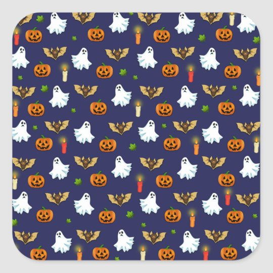 Halloween pattern square sticker