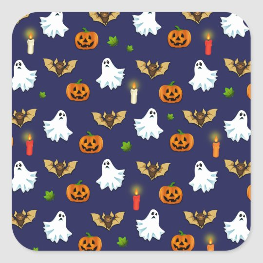 Halloween pattern square sticker