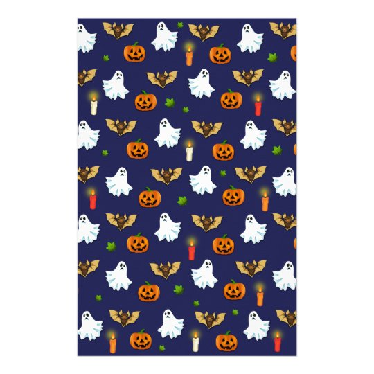 Halloween pattern stationery