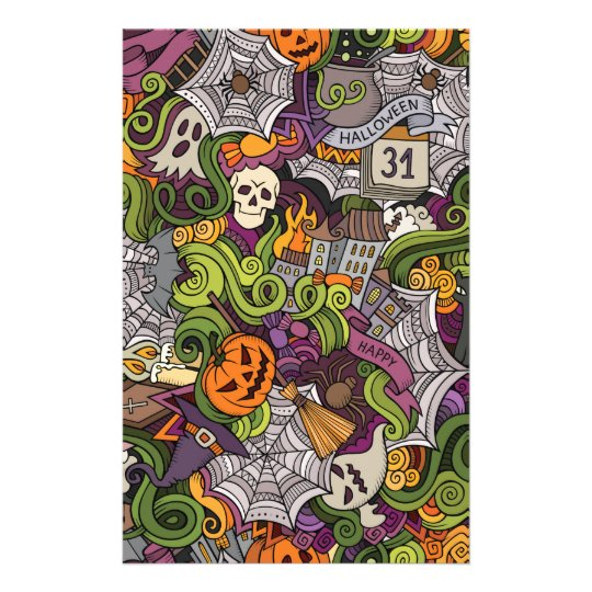 Halloween pattern stationery