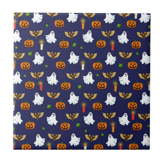 Halloween pattern tile