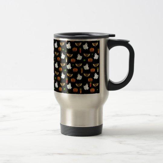 Halloween pattern travel mug