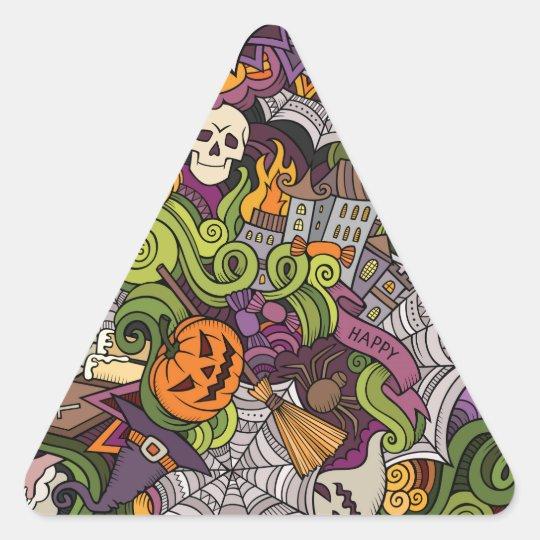 Halloween pattern triangle sticker