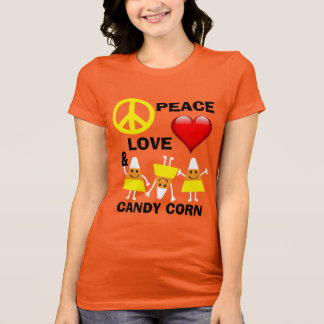 Halloween Peace Love and Candy Corn Tshirt