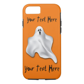 Halloween Phone Case with Ghost and custom text