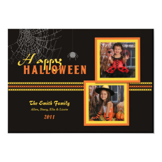 Halloween Photo Card 13 Cm X 18 Cm Invitation Card
