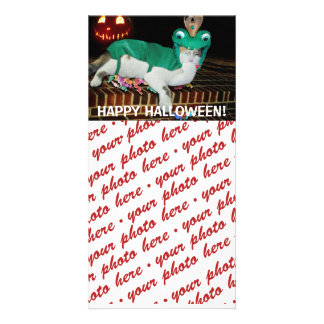 Halloween Photo Card or Photo Gift Tag Personalized Photo Card