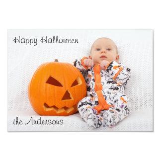 Halloween Photo Greeting Card 9 Cm X 13 Cm Invitation Card