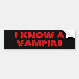 Halloween phrase I know a vampire Bumper Stickers