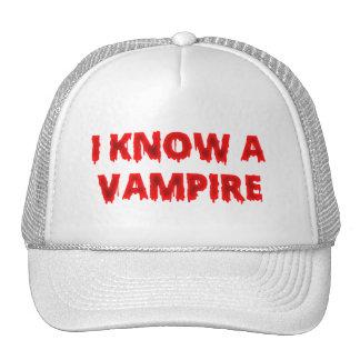 Halloween phrase I know a vampire Mesh Hat