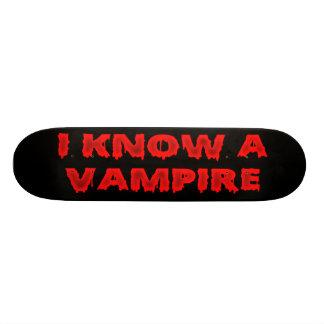 Halloween phrase I know a vampire Skateboard Decks