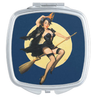 Halloween Pinup Compact Mirror