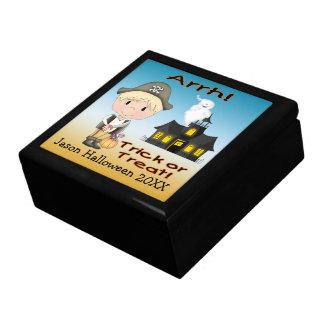 Halloween Pirate Boy Gift Box/Trinket Box Large Square Gift Box