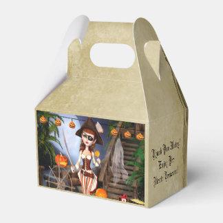 Halloween Pirate Girl Custom Gable Favor Box
