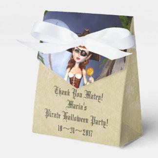 Halloween Pirate Girl Custom Tent Favor Box