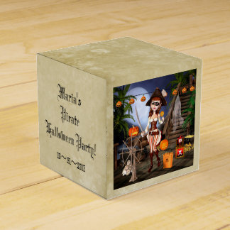 Halloween Pirate Girl Personalized Favor Box
