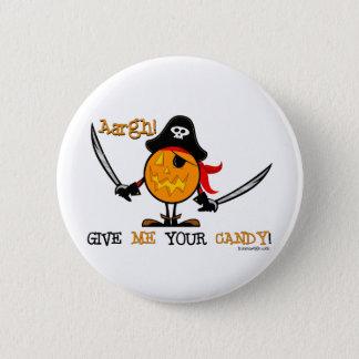 Halloween Pirate Pumpkin 6 Cm Round Badge