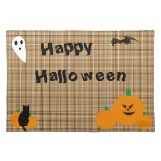 Halloween Plaid Placemat