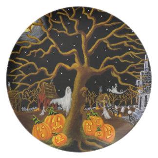 "Halloween plate ""Did you hear something?"""