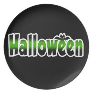 Halloween plate/Happy Halloween